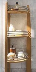 Standing Teak Shower Caddy Teak Shower Caddy Central
